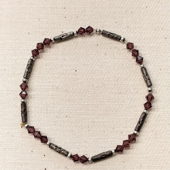 Jewelry - Silver and Amethist Color Bracelet